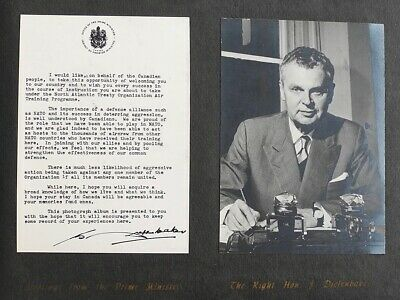 Photographs from the Prime Minister J. Diefenbaker. ROYAL CANADIAN AIR FORCE