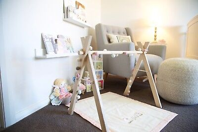 Tasmanian Oak Wooden Baby Play Gym, Timber Baby Gym, Wooden Baby Toy