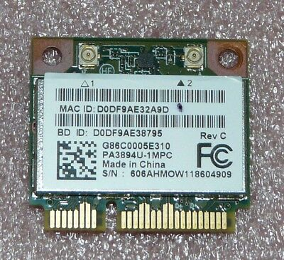 Toshiba PA3894U-1MPC - PCI Express WLAN Mini Card - 802.11b/g/n +  Bluetooth 3.0