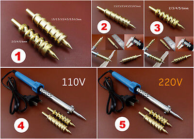5kinds Leather Craft Edge Edging Creasing Soldering Iron Brass Tip Decorate Tool