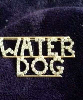 PORTUGUESE WATER DOG LOVERS Crystal Double barred sturdy made in USA BEAUTIFUL