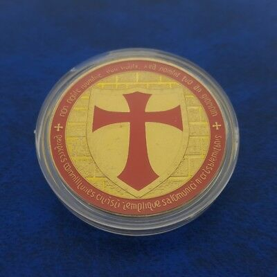 Commemorative Coin Collection Red Gold European Knight Coins Cross Birthday Coin