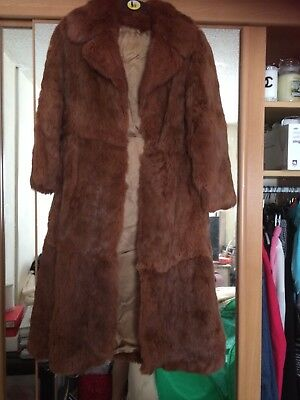 real fur coat size 12