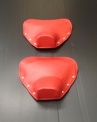 Single seat / saddle cover (pair) - front & rear red for Lambretta