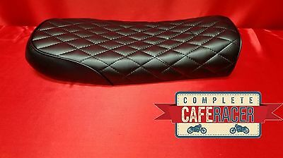 Bs7 Brat / Scrambler Style Cafe Racer Seat Finished In Black Leatherette