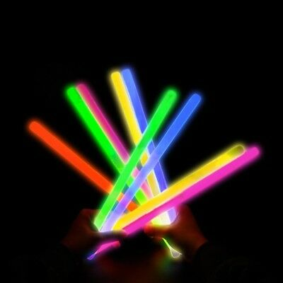 "KYC Light Sticks 24 12"" Light Up Glow Sticks Barcelets- Play in Party Mixed Colo"