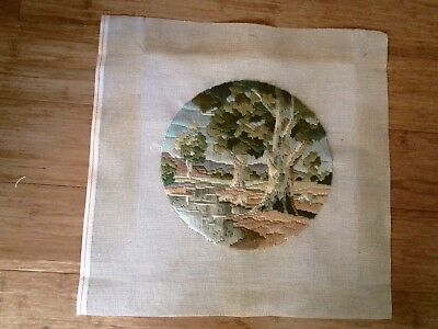 Completed Long Stitch  Of Afternoon Shadows 29Cms Round