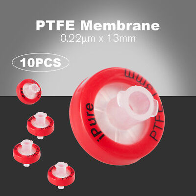 10x PTFE Syringe Filter For Oyster Mushroom Liquid Culture Dia=13mm 0.22um Pore