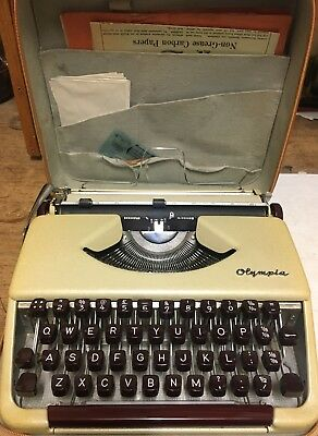 OLYMPIA TYPEWRITER 1950's with zip case