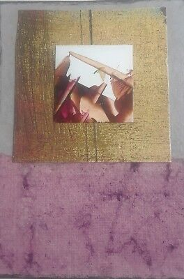 Aceo Original Collage, Geo #100, Signed By Artist Lisa Carney A.k.a Asil