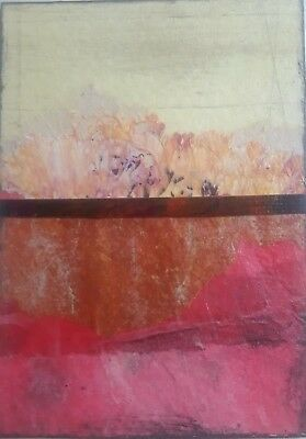 Aceo Original Collage, Geo #101, Signed By Artist Lisa Carney A.k.a  Asil