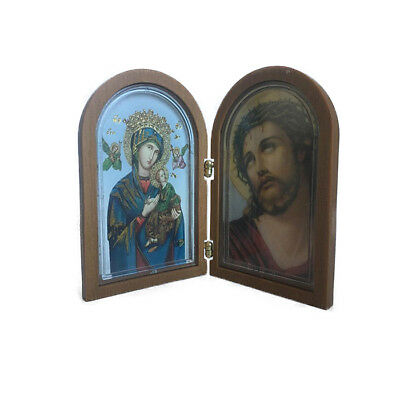 Orthodox Virgin Mary With Jesus Christ Indoor Nice Small Icon With Plastic Frame