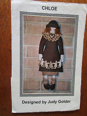 Chloe Pattern For Doll And For Clothing. By Judy Golder.