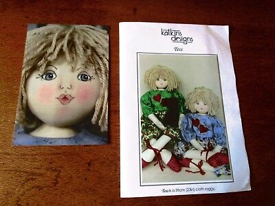Katkins Designs Of Tess A 59Cm Cloth Raggy Doll Pattern Suitable For Beginners