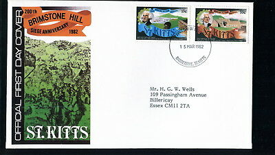 1982 St Kitts FDC. Brimstone Hill Siege. First Day Cover