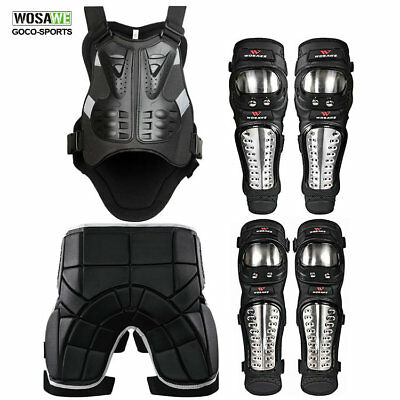 Motorcycle Motocross Protector Armor Back Support Chest Knee Elbow Guard Vest