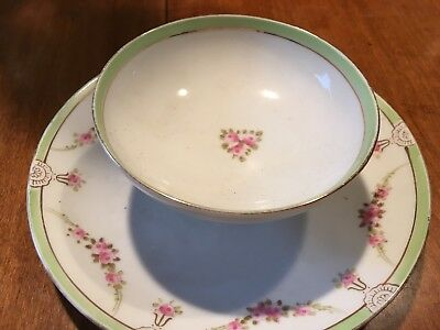 Nippon 2 tiered attached plate and bowl
