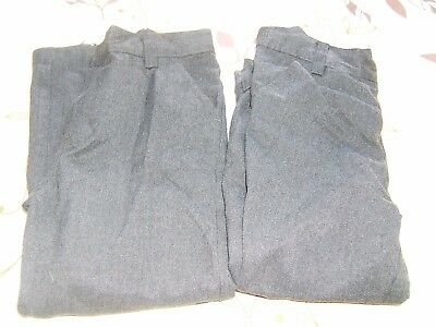 2 pairs Boys school trousers plus fit.Grey. Next Age 7 years