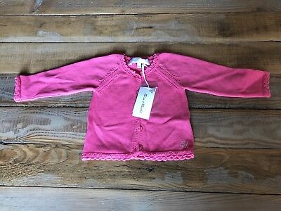 BNWT French Brand TARTINE ET CHOCOLAT Pink Cardigan - Originally €79 - 9 Months