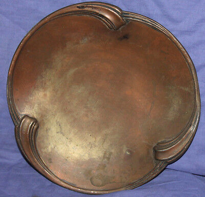 Antique WMF copper silver plated footed platter