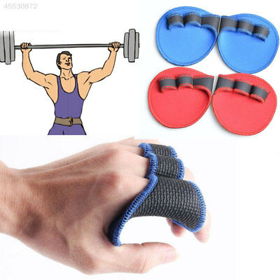 Hand Grip Weight Lifting Pads Workout Gloves Gym Fitness Pro Palm Grip Pair