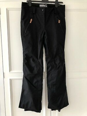 Women's Westbeach Amery Stretch Black Salopettes Ski Trousers Size Medium