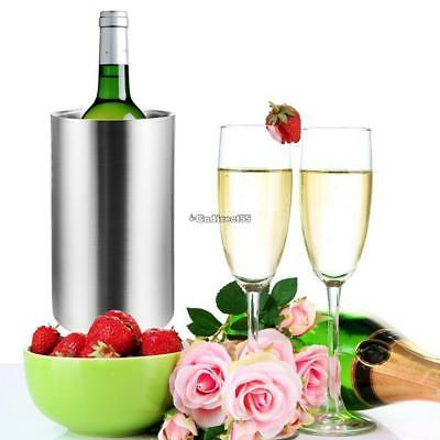 Wine Champagne Bottle Cooler Stainless Steel Double Walled Ice Bucket Home