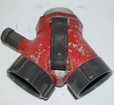"ELKHART  2 1/2"" SIAMESE LEATHER HANDLE fire truck"