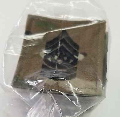 (20) US Army MultiCam OCP Command Sergeant Major CSM Rank Insignia E-9 Hook