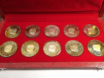 1969 Republic Of Tunisia 10 Coin Set Beautifully Toned
