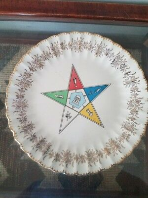 Older vintage Order of the eastern star plate -  Mfg:  sanders TN
