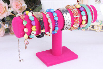 1PC Simple Velvet Jewelry Rack Bracelet Necklace Stand Organizer Holder Display