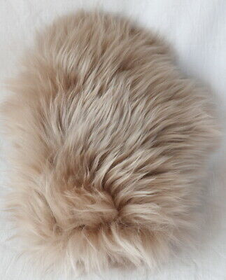 Handschuh Lammfell Massage Streichel Pelz Wellness Fur Glove Nature Camel
