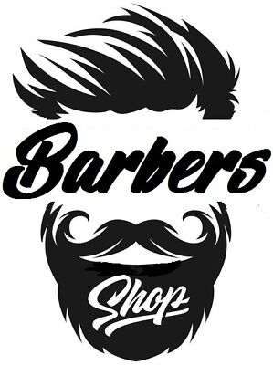 "21x16"" LARGE barbers shop vinyl window wall art door sticker sign barber decal"