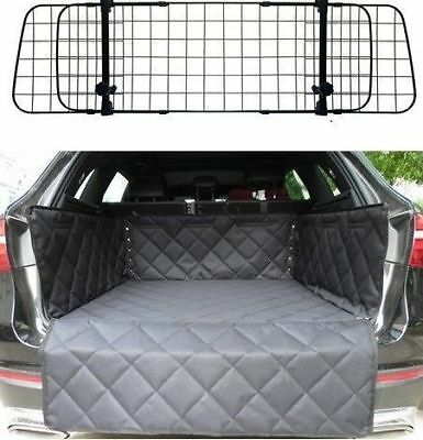 Mesh Headrest Pet Dog Guard + Quilted Boot Liner FOR AUDI A4 AVANT 08-ON