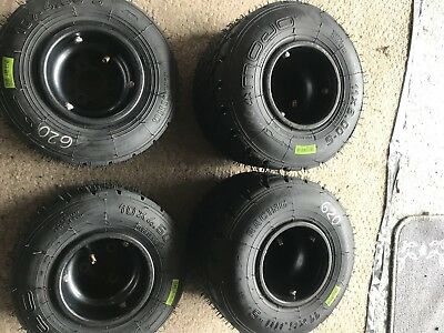 OTK Tonykart AXP Wet Rims / Wheels 130mm Fronts +180mm Rears. Rotax or Iame X30.