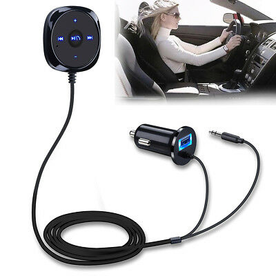 AUX-in Bluetooth Wireless Receiver Adapter Dongle for Car Stereo Audio Speaker