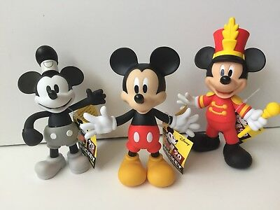 Disney Mickey Mouse 90th True Original Target Figure Set Of 3 Steamboat Willie