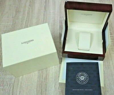 LONGINES Watch Box Wood Lacquer outer box manual
