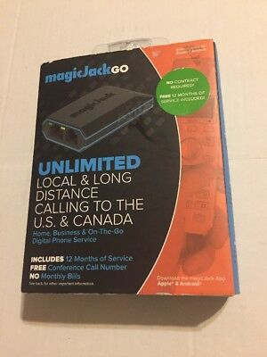 Magic Jack Go  plus 12 Months FREE Service Included