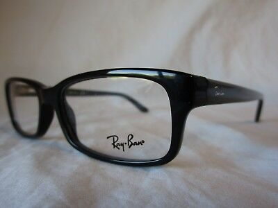 32b82935d02 Ray Ban Eyeglass Optical Frame Rx5187 2000 Shiny Black 52-16-140 New  Authentic