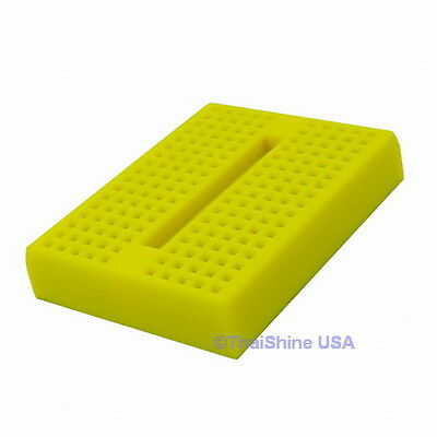 Mini Breadboard 170 Points YELLOW - USA Seller - Free Shipping