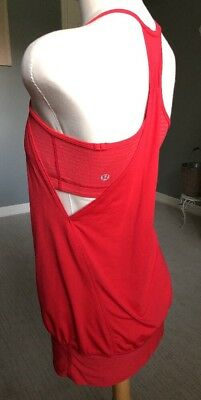 """Lululemon Love Red """"No Limits Tank Top""""~Size 4~100% Authentic"""