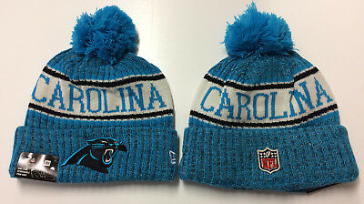 d42680f49ea 2018 Carolina Panthers New Era Knit Hat On Field Sideline Beanie Stocking  Cap
