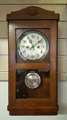 Vintage Gustav Becker Wall Clock with Strike