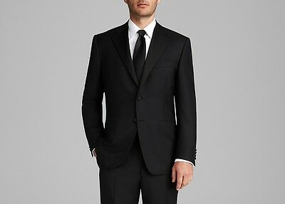 $2895 CANALI Men's BLACK TUXEDO SUIT JACKET Wool Blazer Italy US 40 EU 50