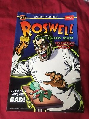 Roswell Comics Bundle 1996 #1 #2 #3 Bongo Simpsons