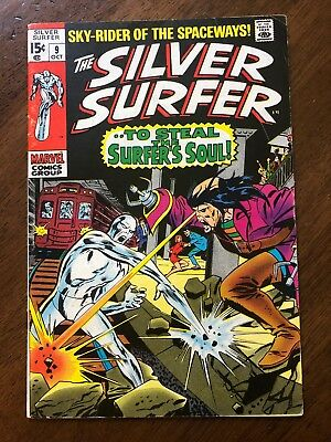 The Silver Surfer #9 (Oct 1969, Marvel) Good Condition, Low Reserve