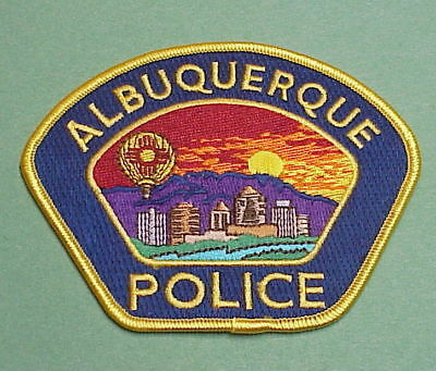Albuquerque  New Mexico  Nm  Gold ( Blue Background )  Police Patch