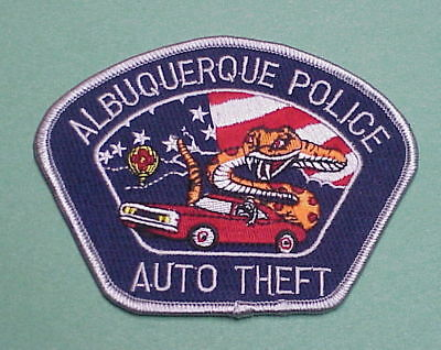 Albuquerque  New Mexico  Nm Auto Theft ( Rattlesnake )  Police Patch  Nice!!